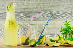 Fresh lemonade drink Royalty Free Stock Image