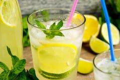 Fresh lemonade drink Stock Photos