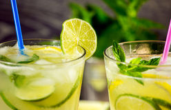 Fresh lemonade drink Stock Image