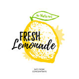 Fresh lemonade illustration Stock Images