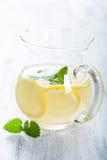 Fresh lemonade in jar Royalty Free Stock Photos