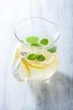 Fresh lemonade in jar Stock Images