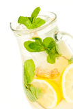 Fresh lemonade from lemon ginger and mint Stock Photo