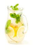 Fresh lemonade from lemon ginger and mint Stock Photos