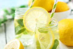 Fresh lemonade Stock Photos