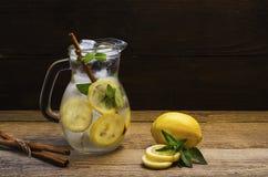 Fresh lemonade with mint and cinnamon 1 stock image