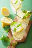 Fresh lemonade with mint in glasses Royalty Free Stock Photo