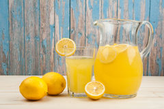 Fresh lemonade in the pitcher Royalty Free Stock Photography