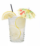 Fresh Lemonade With Umbrella Isolated Royalty Free Stock Photos
