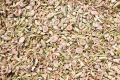 Fresh lemongrass slices Stock Photo