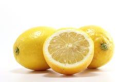 Fresh lemons. Isolated on white background royalty free stock photos