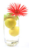 Fresh lemons and flower royalty free stock image