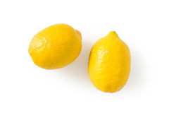 Fresh lemons isolated Royalty Free Stock Photos