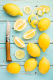 Fresh lemons. Royalty Free Stock Photo