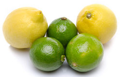 Fresh lemons and limes Royalty Free Stock Photography