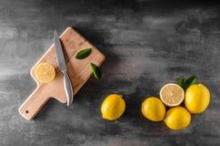 Fresh lemons photo Stock Photos