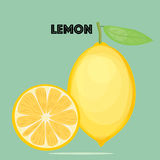 Fresh lemons, Vector. Vector EPS of Fresh lemons Stock Photography
