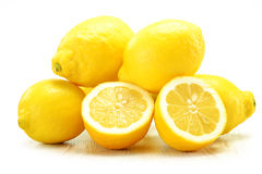 Fresh lemons  on white Stock Image