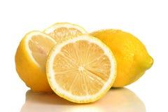 Fresh Lemons. Lemons  on white background Stock Photography