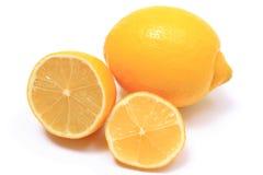 Fresh lemons on white background Royalty Free Stock Images