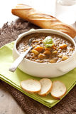Fresh lentil soup with potato Stock Photography