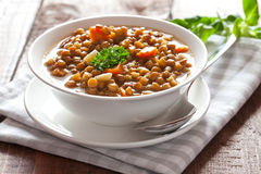 Fresh lentil stew royalty free stock images