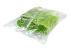 Fresh lettuce in a bag Royalty Free Stock Photos