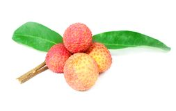 Fresh Lichi. Over white background Royalty Free Stock Photos