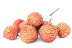 Fresh lichi. On white background Stock Images