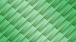 Fresh light green diagonal 3d lines and bars geometric abstract pattern background. High resolution computer generated abstract fractal geometric background royalty free illustration