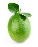 Fresh lime. On a white background stock photo