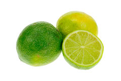 Fresh lime. Isolated on a white background stock image