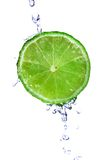Fresh lime. With water drops isolated on white Royalty Free Stock Photo