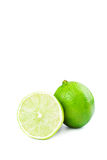 Fresh lime. Fresh and juicy lime on white background Royalty Free Stock Photo