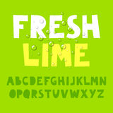 Fresh lime alphabet Royalty Free Stock Image