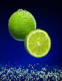 Fresh lime with bubbles Royalty Free Stock Image