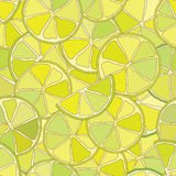 Fresh lime citrus seamless pattern. Stock Image
