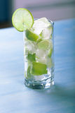 Fresh lime cocktail with ice Stock Images