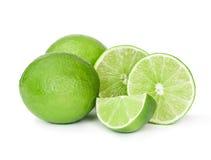 Fresh lime fruit. On white background Royalty Free Stock Images