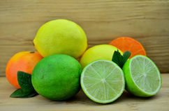 Fresh Lime fruits. Lime fruits on a desk background Royalty Free Stock Photography