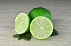 Fresh Lime fruits. Lime fruits on a desk background Stock Photo