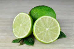 Fresh Lime fruits. Lime fruits on a desk background Stock Images