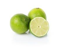 Fresh lime fruits Isolated on white Stock Photo