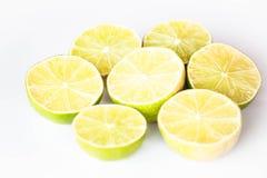 Fresh lime half portion slice Stock Photo