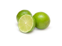 Fresh lime Isolated Royalty Free Stock Photos