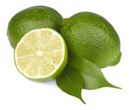 Fresh lime isolated Royalty Free Stock Images
