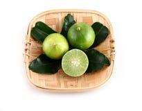 Fresh lime isolated on white Royalty Free Stock Photos