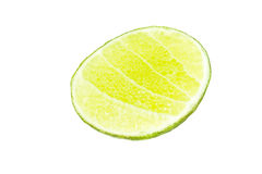 Fresh lime isolated on white Royalty Free Stock Photos