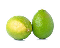Fresh lime. Isolated on white Royalty Free Stock Images