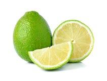 Fresh lime. Isolated on white Stock Image